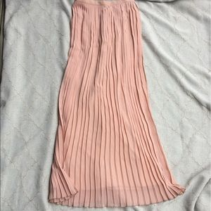 MISS SELFRIDGE Accordion Pleat Pink Maxi Skirt